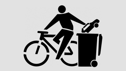 Fahrrad-PKW-Tonne