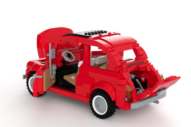dieser fiat 500 lego bausatz w re gro artig alles auto. Black Bedroom Furniture Sets. Home Design Ideas