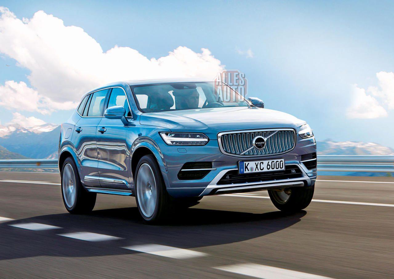 """Mit gewohnt kühlem, ruhigem Design will der nächste Volvo XC60 weiter Stückzahlen wildern – zu erkennen wird auch er an den T-förmigen Tagfahrleuchten sein, Spitzname """"Thors Hammer""""."""