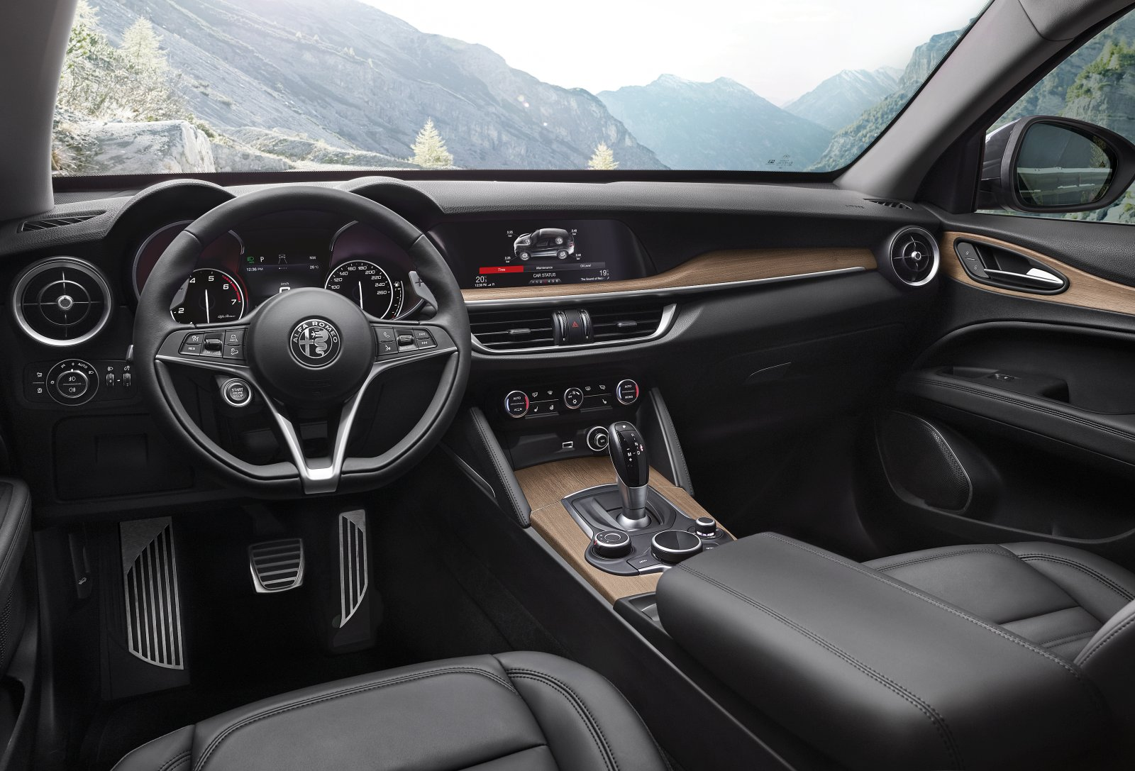 alfa romeo stelvio first edition vorgestellt alles auto. Black Bedroom Furniture Sets. Home Design Ideas
