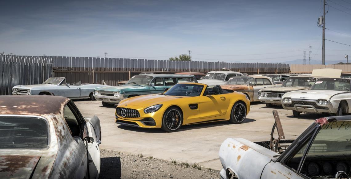 Mercedes-AMG GT-C Roadster Fahtveranstaltung Phoenix 2017Mercedes-AMG GT-C Roadster Press Test Drive Phoenix 2017