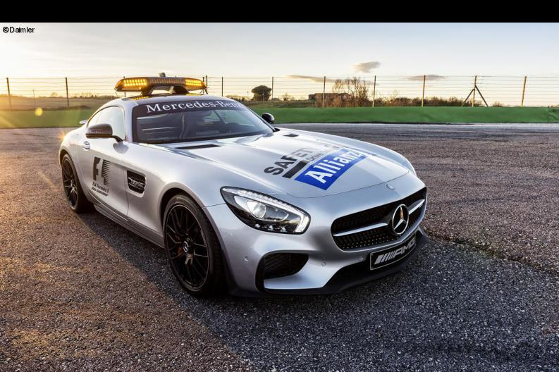 Traditionell in silber: Das Formel 1 Safety-Car.