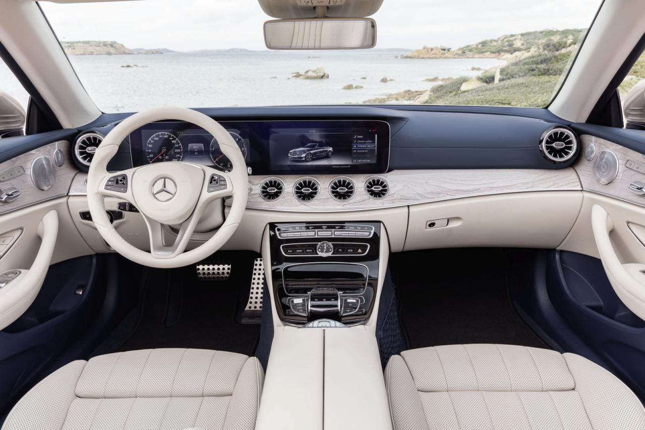 Ein knapper dreiviertel Meter Digital-Display, beim Cabriolet alternativlos Serie, aber wenigstens immer perfekt ablesbar.