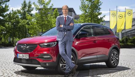 Opel CEO Michael Lohscheller and the Grandland X