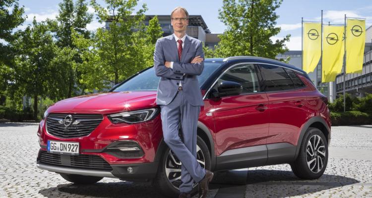 Opel CEO Michael Lohscheller and the Grandland X
