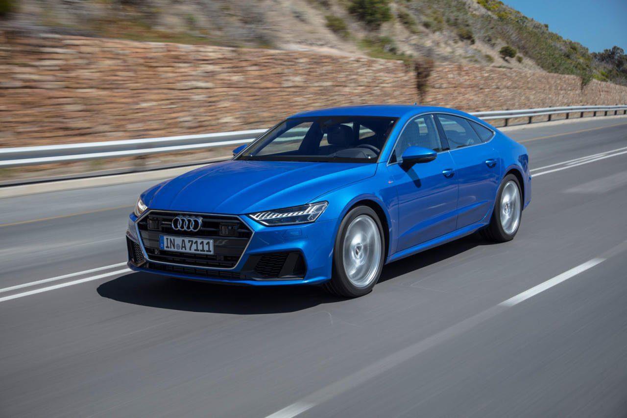 Der neue Audi A7 ist quasi die Coupé-Version des ebenfalls taufrischen A8, sein Grill ist breiter und tiefer, sein Scheinwerfer-Design aggressiver.