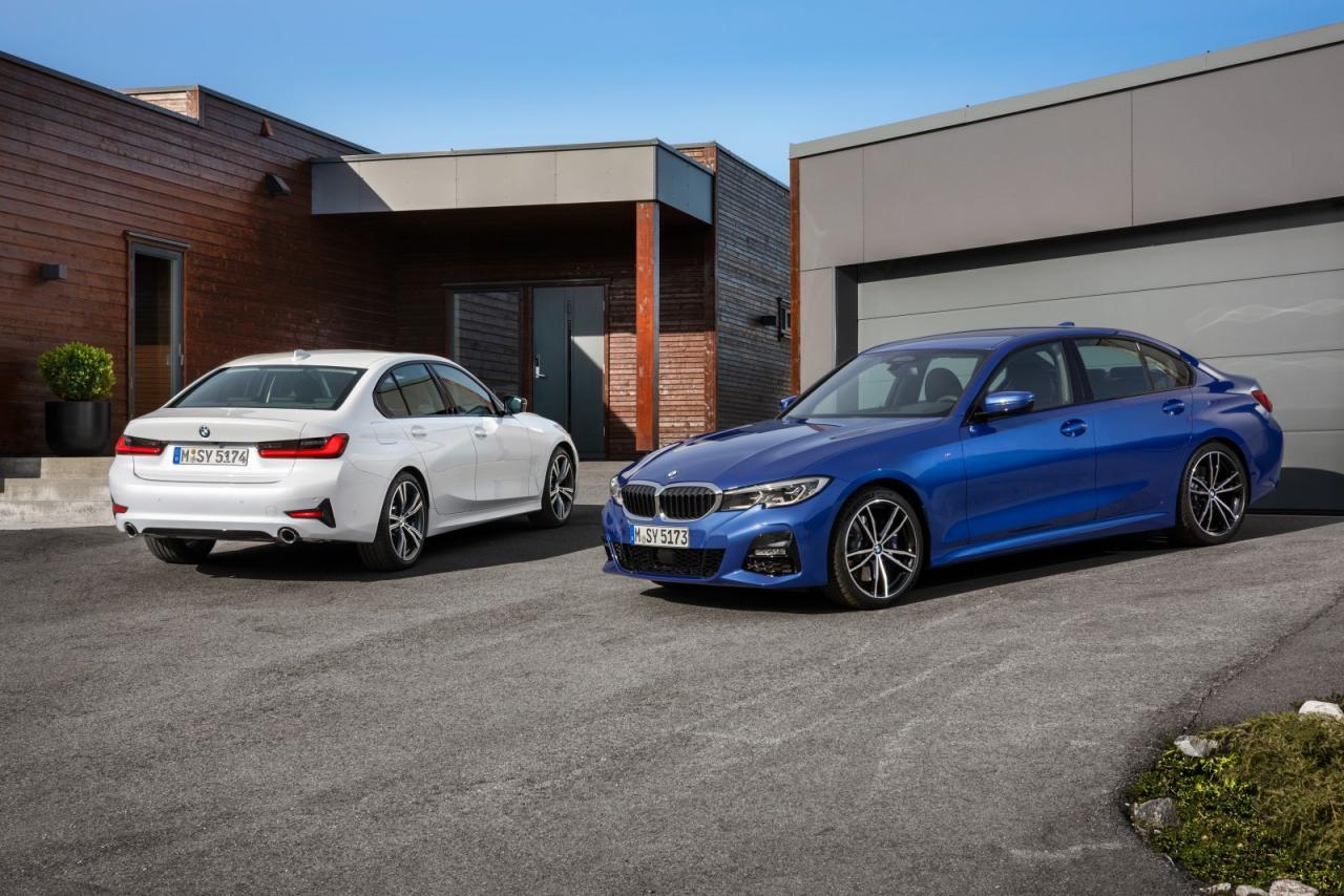 Auf allen Bildern zu sehen ist jeweils die M Sport Ausstattung (blau) und die Sport Line (weiß). Zudem gibt es eine Luxury Line - nicht abgebildet.