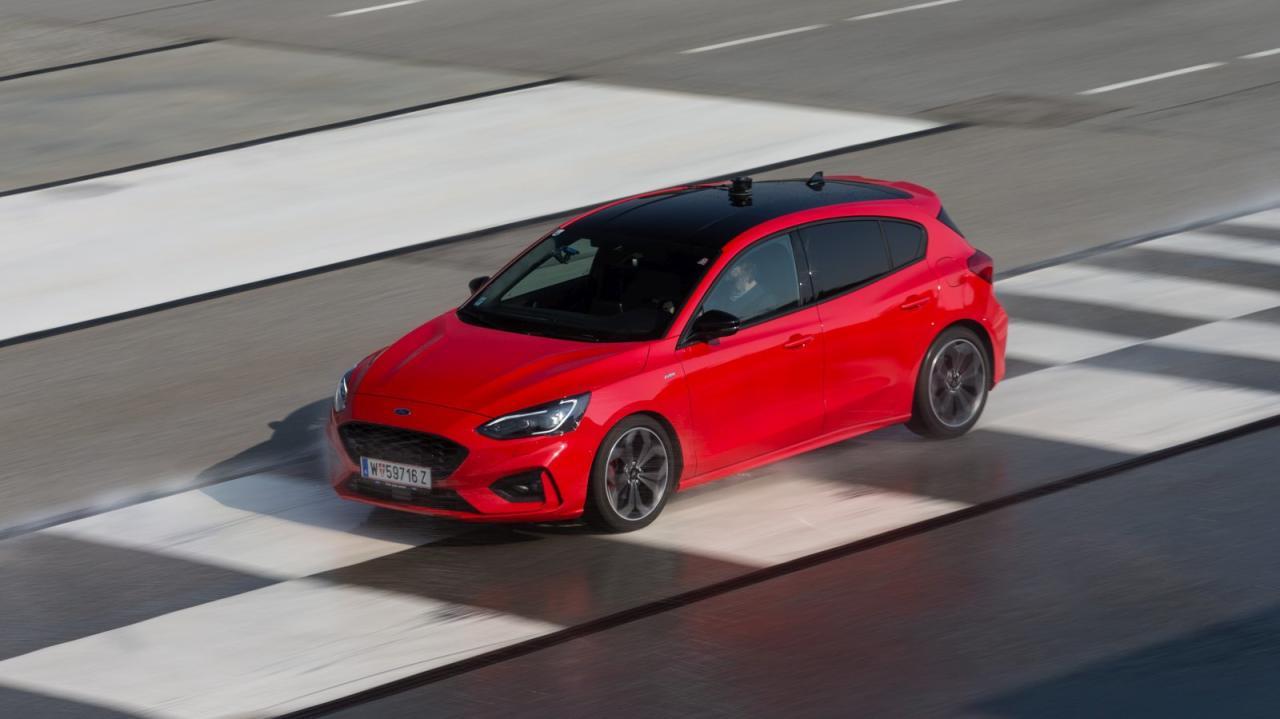 Focus-Verzögerung: Top-Bremsen auch auf einseitigem Rutschbelag.