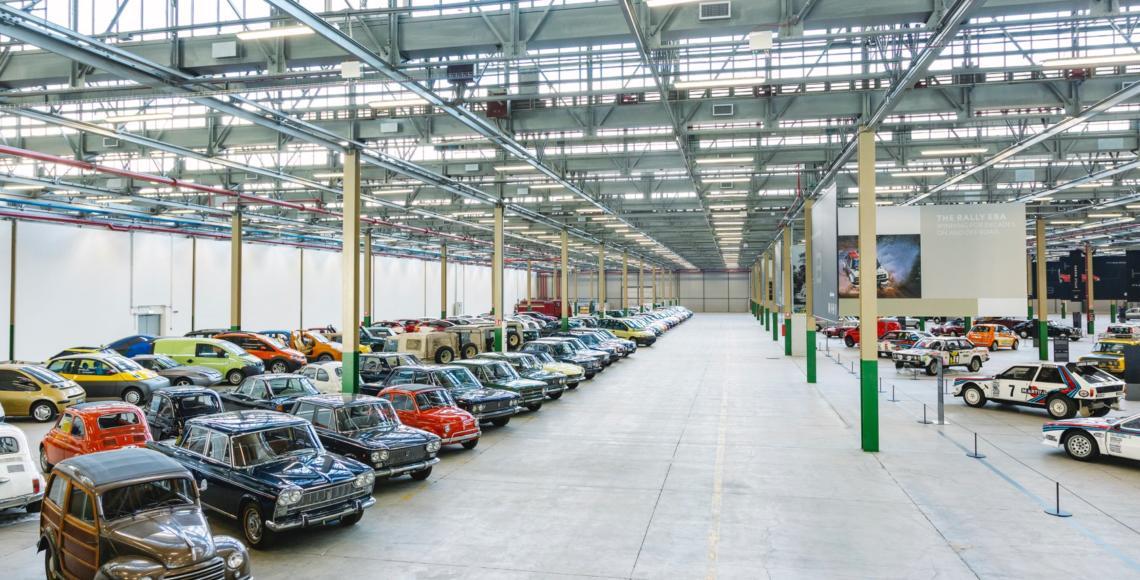 """Der Standort des neuen Fiat-Klassikzentrums befindet sich in der """"Officina 81"""" im Turiner Werk Mirafiori, früher wurden hier Getriebe gefertigt. Foto: Werk"""