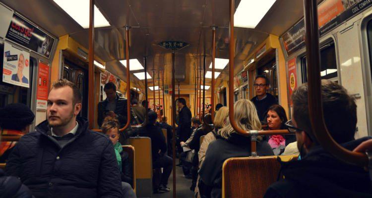 Straßenbahn Innenraum