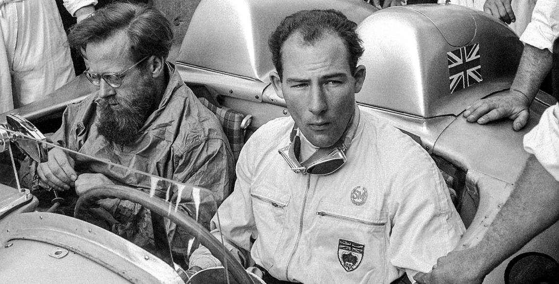 Mille Miglia 1955 in Italien vom 30. April bis 1. Mai 1955: Stirling MossMille Miglia 1955 in Italy from 30 April to 1 May 1955: Stirling Moss