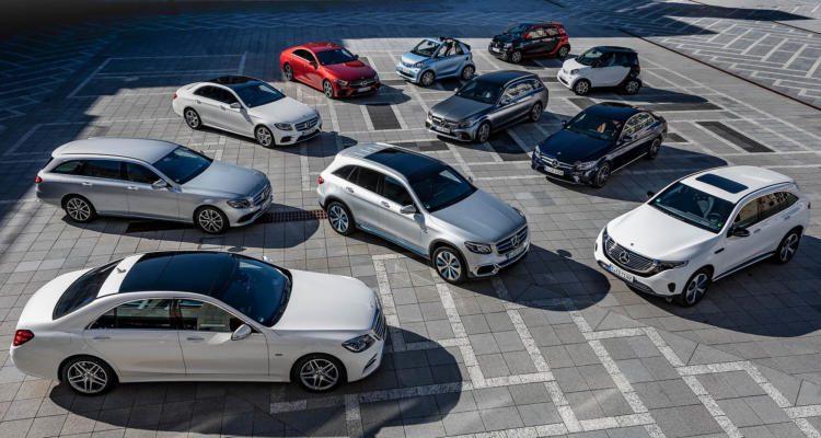 Daimler elektrifizierte Fahrzeuge Elektro Hybrid