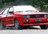 Audi quattro dynamisch auf Schotter
